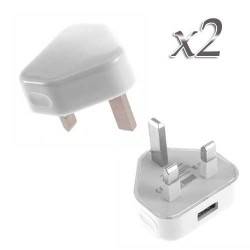 usb wall adapter charger for apple® iphone® 5 5s white UK Plug