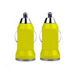 USB car charger adapter for apple® iphone® 5 5s yellow