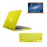 "Rubberized case With Screen Protector For Macbook Pro® 15"" Retina® Display Yellow"