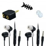 Accessory pack fish bone adapter earphone for iphone® 5 5s black