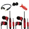 Accessory pack fish bone cable earphone for iphone® 5 5s red