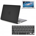 Hard Case with screen protector For Macbook Air® 13 A1369 A1466 Black