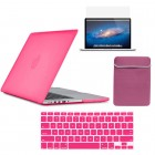 Hard Case sleeve screen guard For Macbook Pro® 13 Retina A1425 Hot Pink