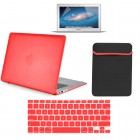 Hard Case sleeve screen guard For Macbook Air® 13 A1369 A1466 Red