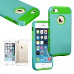 Hybrid Rugged hard case with screen guard for iphone® 5s green