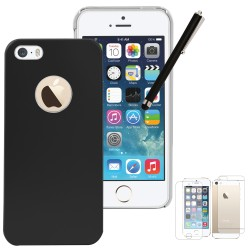 Luxury aluminum case stylus with screen protector for iphone® 5 5s black