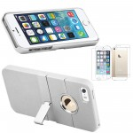 Rubberized hard stand case with screen guard for iphone® 5 white