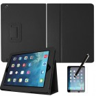 Flip Magnetic Case for Apple® iPad® Air Black With Screen Protector Stylus