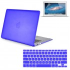 Rubberized Hard Case For Macbook® Air 13 Inch A1466 With Screen Guard Royal Blue