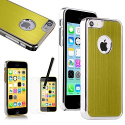 Luxury Aluminum Hard Case with Screen Guard Stylus For IPhone® 5C Yellow