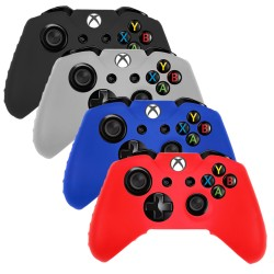 Pack of 4 Soft Skin Case for Microsoft® Xbox® One Black Blue Red Clear