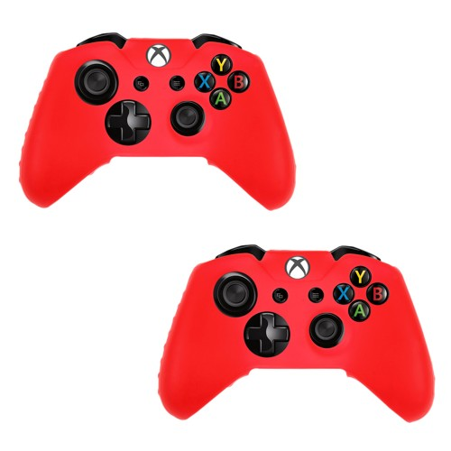 Pack Of 2 Soft Skin Case for Xbox® one Game Controller Red