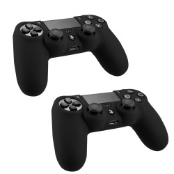 Pack Of 2 Soft Skin Case for Sony® Playstation® 4 Game Controller Black