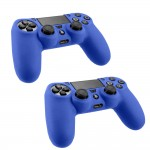 Pack Of 2 Soft Skin Case for Sony® Plastation® 4 Game Controller Blue