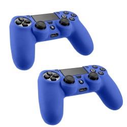 Pack Of 2 Soft Skin Case for Sony® Plastation® 4 Game Controller Blue