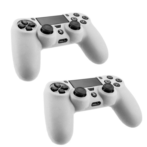 Pack Of 2 Soft Skin Case for Sony® Playstation® 4 Game Controller Clear