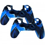 2 in 1 Pack of Silicone Case For Sony PS® 4 Controller Blue