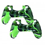 2 in 1 Pack of Silicone Case For Sony PS® 4 Controller Green