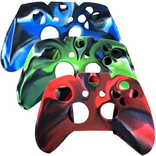 3 In 1 Pack Silicone Case for Xbox® ONE Game Controller Red Blue Green