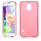 Soft TPU Back Case Screen Protector For Samsung Galaxy S©5 Red