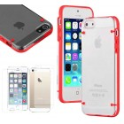Ultra Thin Crystal Clear Hybrid Hard Case For iPhone® 5 5S Red