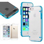 Ultra Thin Crystal Clear Hybrid Hard Case For iPhone® 5 5S Blue