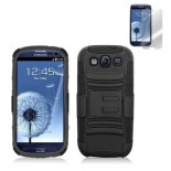 black holster case cover for SAMSUNG Galaxy s©3 with screen protector