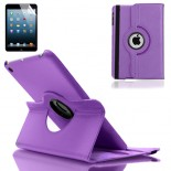 purple pu leather case cover for apple® ipadmini with screen protector