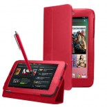 Red PU Leather Flip Case Cover For Google Asus Nexus 7""
