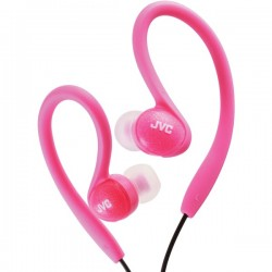 JVC Ladies' Sport Ear-Clip Headphones Pink