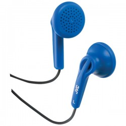 JVC Earbuds with Hard Carrying Case Blue