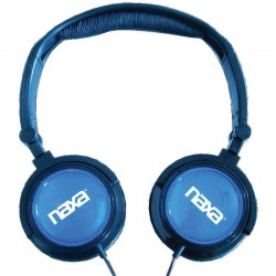 NAXA 2 In 1 Combo Super Bass Stereo Headphones & Earbuds Blue