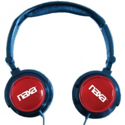 NAXA 2 In 1 Combo Super Bass Stereo Headphones & Earbuds Red