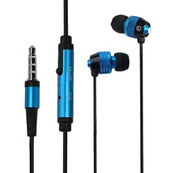in ear earphone for Apple® iPhone® 5 5s blue black 3.5mm jack