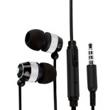 black 3.5mm jack in ear earphone for SAMSUNG Galaxy s©3