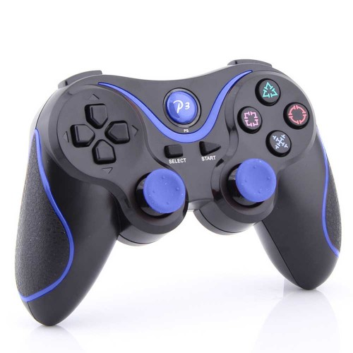 Black Blue Wireless Bluetooth Controller For Sony PS 3