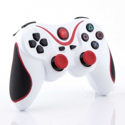 White Red Wireless Bluetooth Controller For Sony PS 3