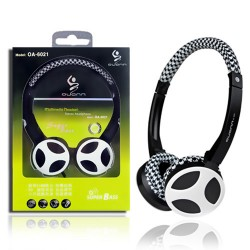 ovann black white 3.5mm jack headphone for computer laptop