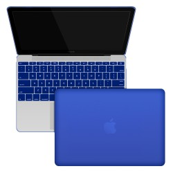 "Rubberized Hard Shell Case With Keyboard Cover for MacBook 12"" Retina A1534 - Royal Blue"