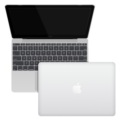 "Rubberized Hard Shell Case With Keyboard Cover for MacBook 12"" Retina A1534 - Clear"