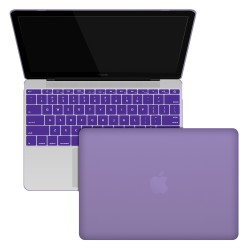 "Rubberized Hard Shell Case With Keyboard Cover for MacBook 12"" Retina A1534 - Purple"