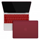 "Rubberized Hard Shell Case With Keyboard Cover for MacBook 12"" Retina A1534 - Wine Red"