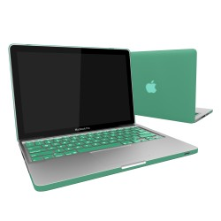 "Rubberized Hard Shell Case With Keyboard Cover for Macbook Pro 13""  A1278 - Ocean Green"