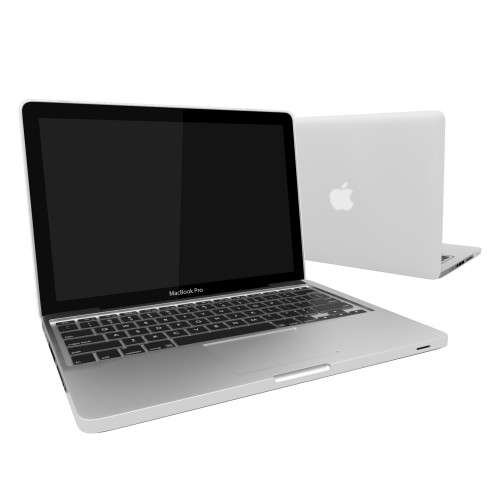 "Rubberized Hard Shell Case With Keyboard Cover for Macbook Pro 13""  A1278 - Clear"