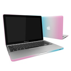 "Rubberized Hard Shell Case With Keyboard Cover for Macbook Pro 13""  A1278 - Rainbow"