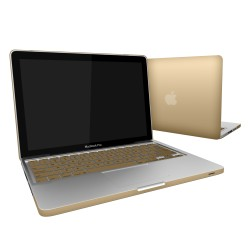 "Metallic Hard Shell Case With Keyboard Cover for Macbook Pro 13""  A1278 - Metallic Gold"