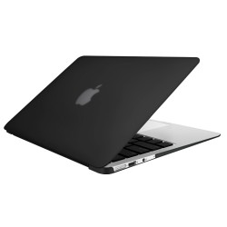 "Rubberized Hard Shell Case With Keyboard Cover for Macbook Air 11"" A1370/A1465 - Black"