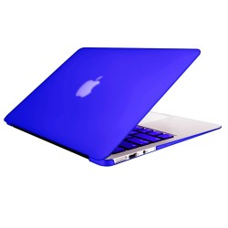 "Rubberized Hard Shell Case With Keyboard Cover for Macbook Air 11"" A1370/A1465 - Royal Blue"