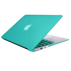 "Rubberized Hard Shell Case With Keyboard Cover for Macbook Air 11"" A1370/A1465 - Turquoise Blue"
