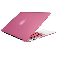 "Rubberized Hard Shell Case With Keyboard Cover for Macbook Air 11"" A1370/A1465 - Pink"